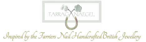 tarragnaegel.com - gold and silver farriers' nail hallmarked jewellery designed in Scotland